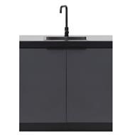 AlfrescoPlus Grey BBQ Modular Sink Cabinet - Double Cadet Grey
