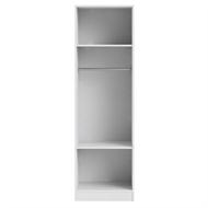 Flexi Storage White 1 Hang Rail 2 Shelf Walk In Wardrobe Unit