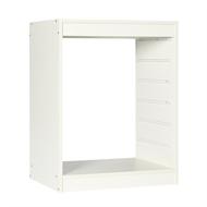 Flexi Storage 740 x 573 x 430mm White 6 Runner Timber Frame