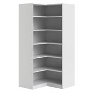 Flexi Storage 6 Shelf White Corner Walk In Wardrobe Unit
