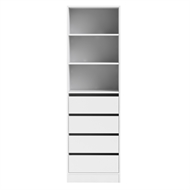 Flexi Storage White 4 Drawer 3 Shelf Walk In Wardrobe Unit