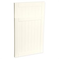 Kaboodle 450mm Country Vinyl 1 Door / 1 Drawer Panel  - Antique White