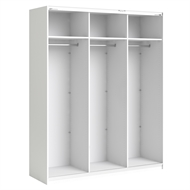 Flexi Storage White 3 Door Frame Sliding Wardrobe
