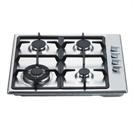 Everdure 60cm Stainless Steel Gas Cooktop with Wok Ring - CBGS62