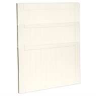 Kaboodle 600mm Antique White Country 3 Drawer Panels