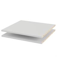 Flexi Storage White 2 Sliding Wardrobe Shelves