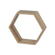 Flexi Storage Oak Hexagonal Shelf