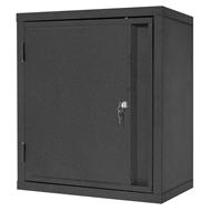 Pinnacle 600 x 600 x 250mm Matte Black Wall Mounted Cabinet
