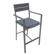 Mimosa Aluminium Lava Bar Chair With Cushion