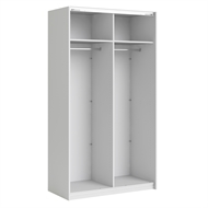 Flexi Storage White 2 Door Frame Sliding Wardrobe