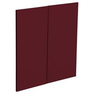 Kaboodle Seduction Red Modern Corner Base Cabinet Door - 2 Pack