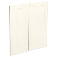 Kaboodle Antique White Country Corner Base Cabinet Doors - 2 Pack