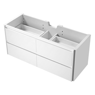 Mondella 1200mm Rococo White Wall Hung Vanity - Cabinet Only