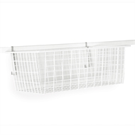 StoreEase White Mini Rail Full Front Basket