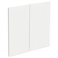 Kaboodle 600mm Gloss White Modern Rangehood Doors - 2 Pack