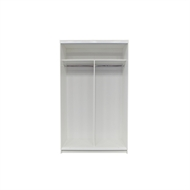 Bedford 2000 x 1200 x 595mm White Wardrobe Unit