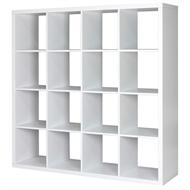 Flexi Storage Clever Cube 146 x 39 x 146cm 4 x 4 Storage Unit - White