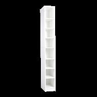 Multistore 2000 x 250 x 450mm Adjustable 7 Shelf Shoe Tower  - Crisp White