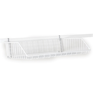 StoreEase White Mini Rail Open Front Basket