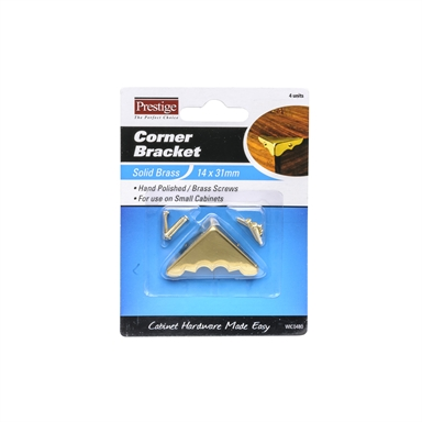 4 Pack Box Hardware Accessories Craft Metal Corner Protectors Brass