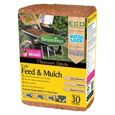 Brunnings 30l Coir Feed And Mulch Block Bunnings Warehouse
