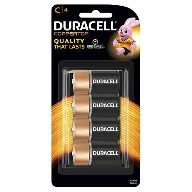 Duracell C Alkaline Batteries 4 Pack Bunnings Warehouse