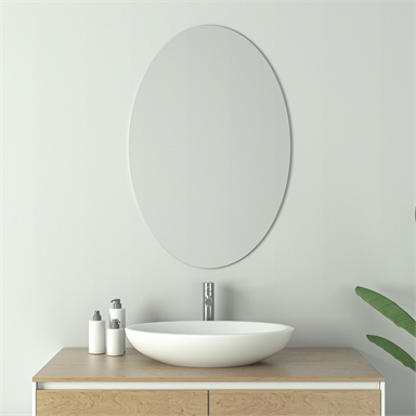 Living Elements 500 X 750 X 10mm Oval Mirror Bunnings Warehouse