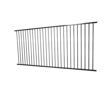 Protector Aluminium 2450 X 1200mm Flat Top Ulti M8 Pool Fence Panel Black