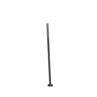 Protector Aluminium 50 X 50 X 1600mm Flanged Fence Post With Black