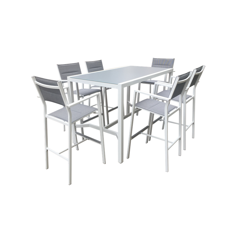 Marvelous 7 Piece Coral Bay Aluminium Bar Setting Mimosa Gmtry Best Dining Table And Chair Ideas Images Gmtryco