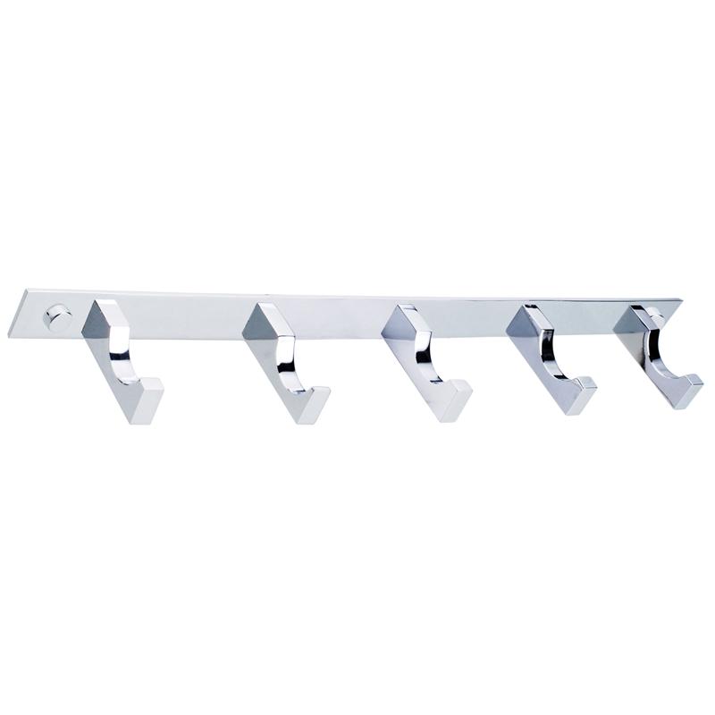 Concerto 320mm Chrome 5 Hook Towel Bar