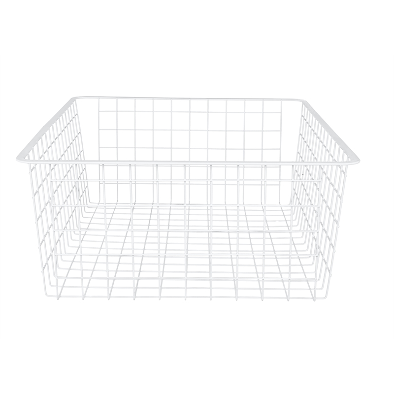 Flexi Storage 185mm White 2 Runner Wire Basket Bunnings Warehouse