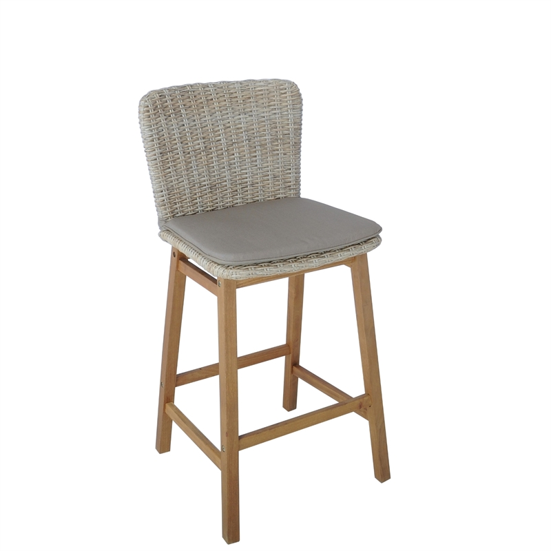 Corsica Wicker Bar Chair