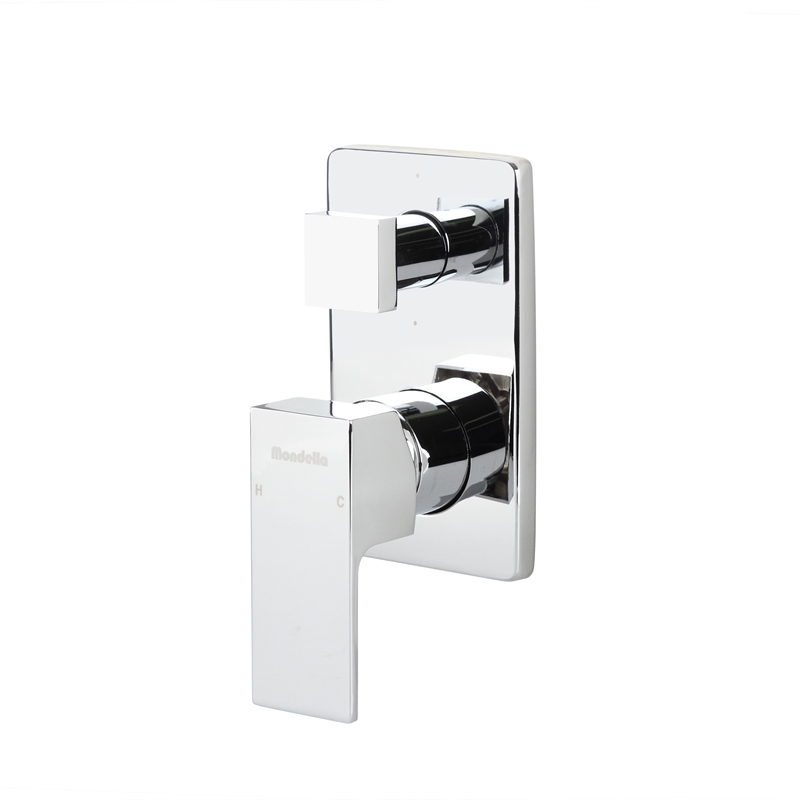 Rococo Chrome Shower Mixer With Diverter