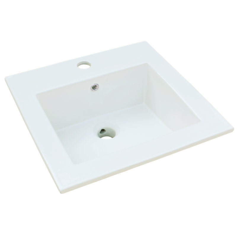 Rococo Ceramic Drop In Basin White