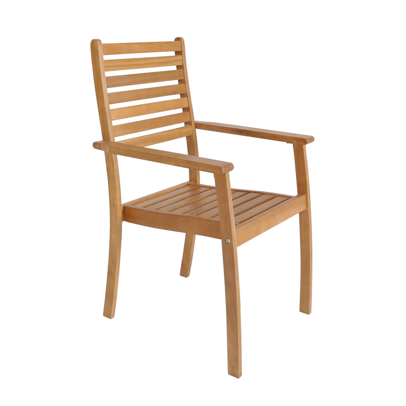 Timber carver high back dining chair