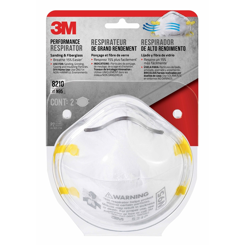 - Disposable 8210 Pack 2 Respirator Particulate 3m P2