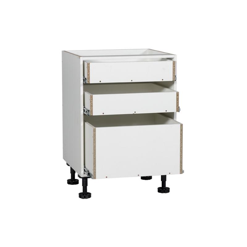 Kaboodle 600mm 3 Drawer Base Kitchen Cabinet Bunnings Warehouse