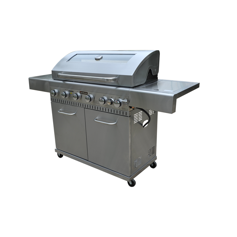 6 Burner Hooded Comet Plus BBQ with Side Burner