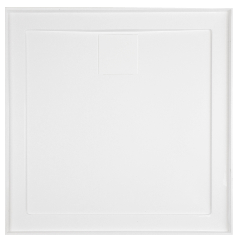 Rococo 820 x 820mm White Square Shower Base