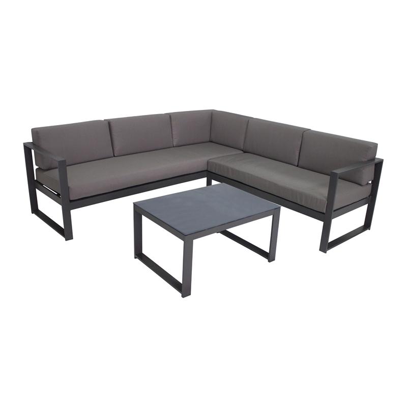 Pleasing Marquee Steel Silverleaves Corner Sofa Set Bunnings Warehouse Spiritservingveterans Wood Chair Design Ideas Spiritservingveteransorg