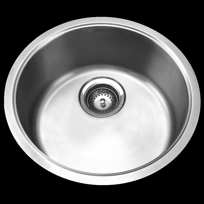 Resonance Single Round Stainless Steel Bowl Sink