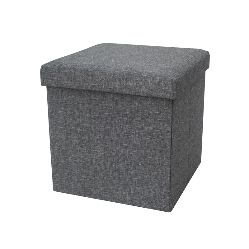 Stupendous Flexi Storage Living 380 X 380 X 380Mm Grey Storage Ottoman Gmtry Best Dining Table And Chair Ideas Images Gmtryco